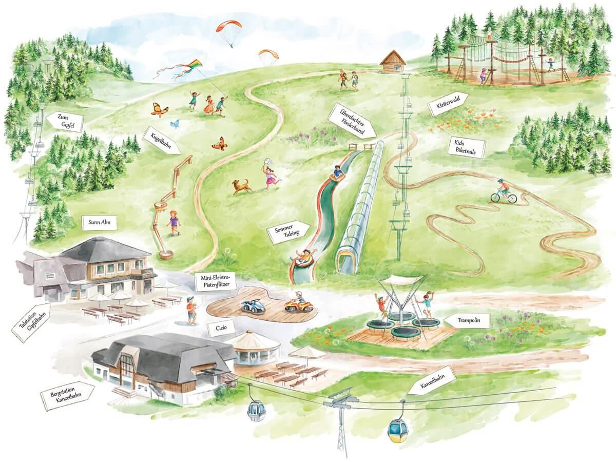 Gerlitzen Funpark - Map